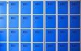 school or gym blue metal lockers