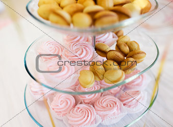 close up of sweets and cookies on serving tray