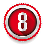 Number Eight badge vector
