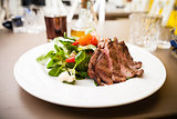 Entrecote with salad