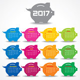 Creative New Year calender for 2017