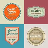 Collection retro vintage styled discount labels