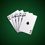 Poker cards flush leaves hand