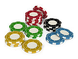 Casino chips 3d isolated
