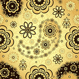 Gold and brown seamless pattern