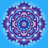 Blue and violet vintage round pattern