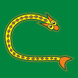 Ornamental initial letter C as snake