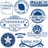Onondaga county, New York. Set of stamps and signs