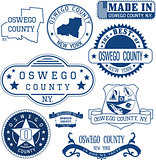 Oswego county, New York. Set of stamps and signs