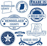 Rensselaer county, New York. Set of stamps and signs