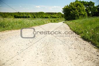 country road at summer
