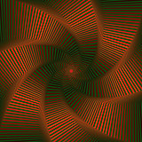 Whirling sequence with red and green octagonal star forms