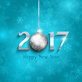 New Year bauble background