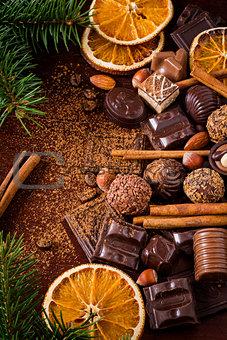 Christmas chocolates and sweets