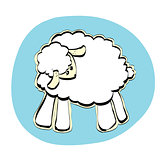 Cute Christmas or Eid al Adha sheep