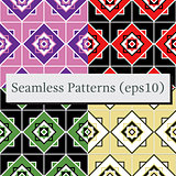Seamless geometric pattern texture set