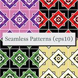Seamless geometric pattern texture set