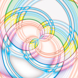 Colorful big spiral candy background