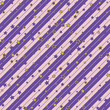 Christmas striped diagonal wrapping paper with stars pattern. seamless background. Design wallpaper for present or gift decor