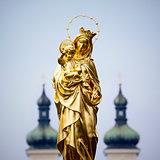 Golden Madonna Statue Tutzing