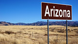 Arizona brown road sign