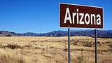 Arizona brown road sign