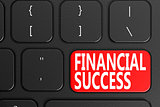 Financial Success on black keyboard