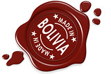 Label seal of Made in Bolivia
