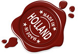 Label seal of Made in Holland