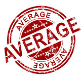 Red average stamp