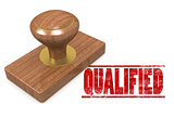 Red qualified wooded seal stamp