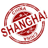 Red Shanghai stamp