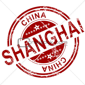 Red Shanghai stamp