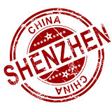 Red  Shenzhen stamp