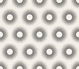 Vector Seamless Black and White Circle Halftone Pattern