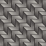 Vector Seamless Black and White Stippling Chevron Shapes Pattern