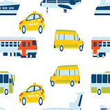 Seamless pattern with color transport concept