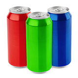 Group of aluminum beer cans