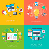 Set of business and technology backgrounds.