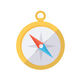 Compass color icon.