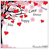 romantic card with words