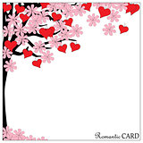 romantic card tree of love