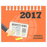 cover of the business calendar 2017