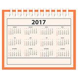 desk full calendar 2017