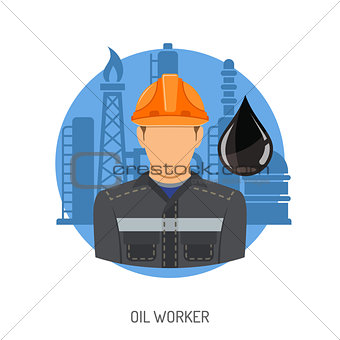 Oil Worker Concept
