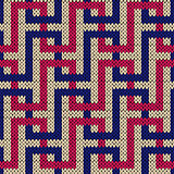 Seamless knitted pattern with interlacing lines