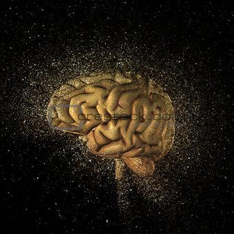 3D exploding brain
