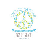 International Peace Day Label Designs In Pastel Colors