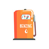 Petrol Station Fuel Filling Item Cool Colorful Vector Illustration