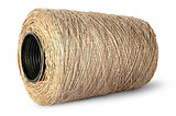 Horizontal bobbin of old dirty thread beige